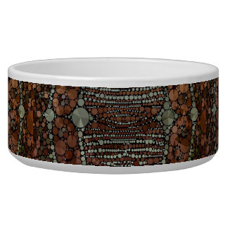 Brown Light Green Bling Abstract Bowl