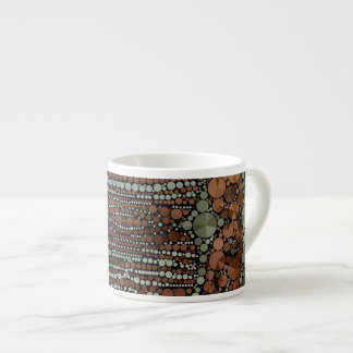 Brown Light Green Bling Abstract Espresso Cup