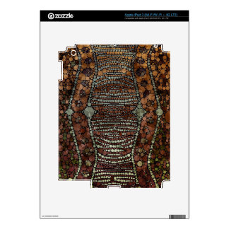 Brown Light Green Bling Abstract Skins For iPad 3