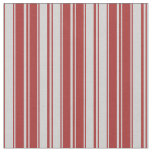 [ Thumbnail: Brown & Light Grey Colored Stripes/Lines Pattern Fabric ]