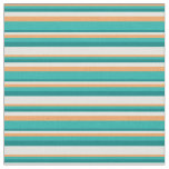 [ Thumbnail: Brown, Light Sea Green, Teal, and Light Yellow Fabric ]