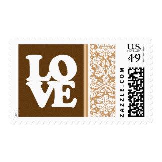 Brown lindo, damasco del moreno sello postal