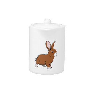 Brown lindo y conejo de conejito blanco