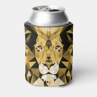 Brown Lion Can Cooler