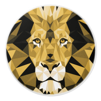 Brown Lion Ceramic Knob