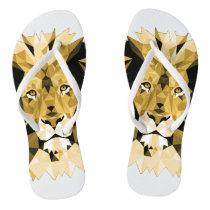Brown Lion Flip Flops