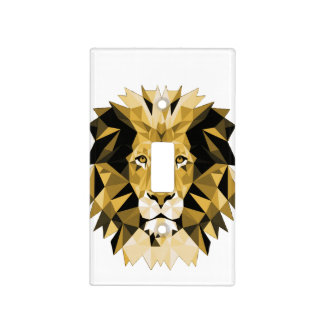 Brown Lion Light Switch Cover