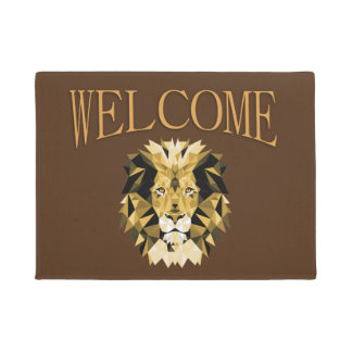 Brown Lion Welcome Doormat