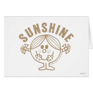 Brown Little Miss Sunshine Greeting Card