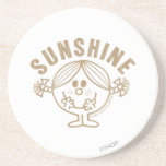 Brown Little Miss Sunshine Coasters