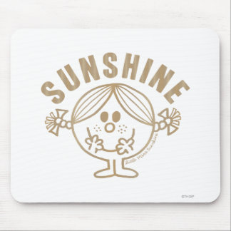 Brown Little Miss Sunshine Mouse Pad