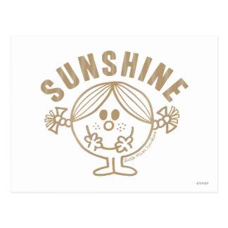 Brown Little Miss Sunshine Postcard