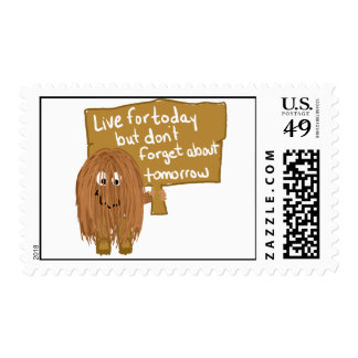 Brown live for today postage stamps