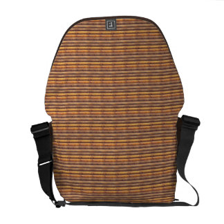 Brown Logs Rickshaw Messenger Bag