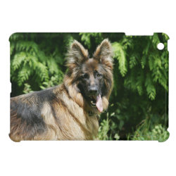Brown Long Haired German Shepherd 1 iPad Mini Cover
