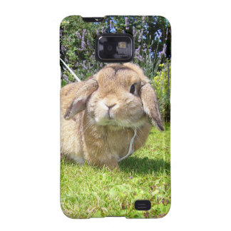 Brown lopped ear rabbit with lavender galaxy s2 case