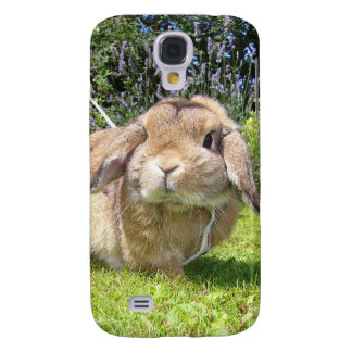 Brown lopped ear rabbit with lavender galaxy s4 case