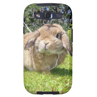 Brown lopped el conejo del oído con lavanda galaxy SIII carcasa