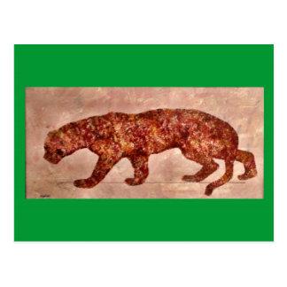 Brown Lost Cave Cat Postcard