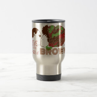 BROWN LOVE in GREEN & RED Travel Mug