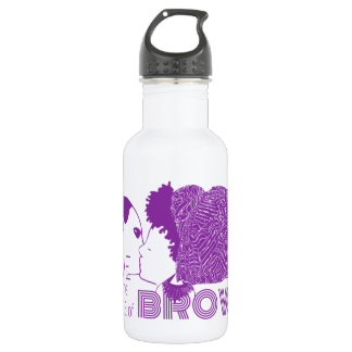 BROWN LOVE in PURPLE Stainless Steel Water Bottle