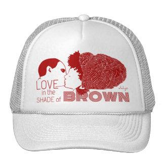 BROWN LOVE in RED Trucker Hat