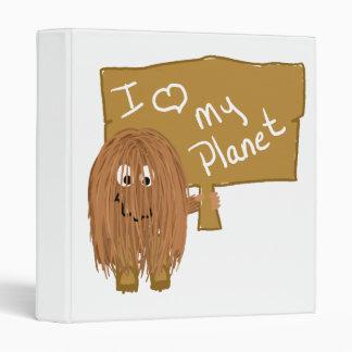 Brown love my planet binder