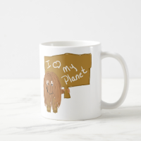 Brown love my planet mugs