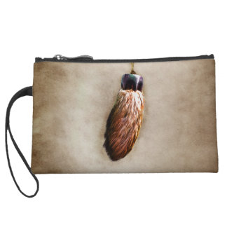 Brown Lucky Rabbit s Foot Wristlet Clutches
