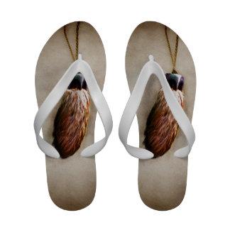 Brown Lucky Rabbit s Foot Flip-Flops