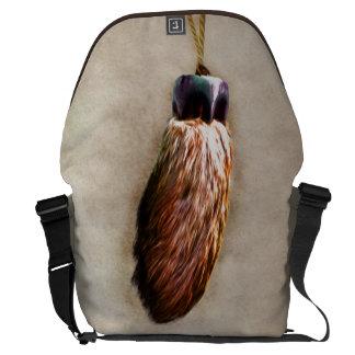 Brown Lucky Rabbit s Foot Messenger Bags