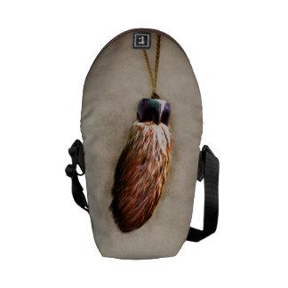 Brown Lucky Rabbit s Foot Messenger Bag