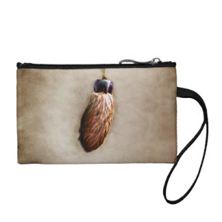 Brown Lucky Rabbit's Foot Change Purse