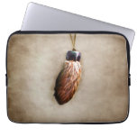 Brown Lucky Rabbit's Foot Laptop Sleeves