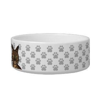 Brown Mackerel Tabby Maine Coon Cat Cat Food Bowl