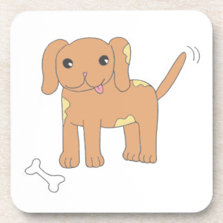 Brown manchó el perro de perrito posavasos
