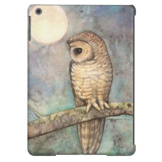 Brown manchó la pintura de la fauna del búho funda para iPad air