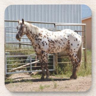 Brown manchó los prácticos de costa del caballo de posavasos