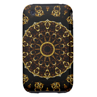 Brown Mandala iPhone 3 Tough Covers