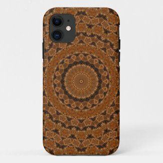 Brown Mandala Wheel... iPhone 11 Case
