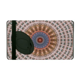 Brown Mandala Wheel... iPad Folio Case