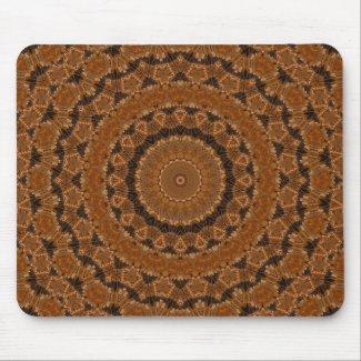 Brown Mandala Wheel Mouse Pad