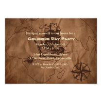 Brown Map Invitation