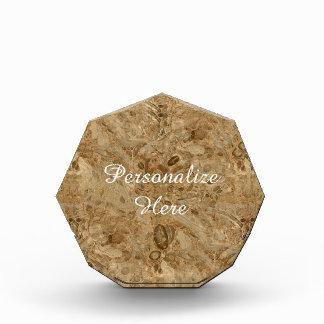 Brown Marble Fossil Look Acrylic Award