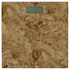 Brown Marble Fossil Look Bathroom Scale at Zazzle