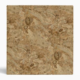 Brown Marble Fossil Look Binder