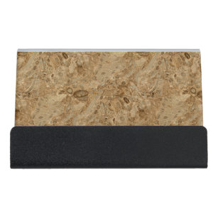 Fossil business card holders cases zazzle brown marble fossil look desk business card holder colourmoves