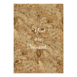 Brown Marble Fossil Look 5x7 Paper Invitation Card