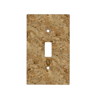 Brown Marble Fossil Look Light Switch Cover