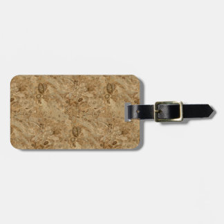 Brown Marble Fossil Look Luggage Tag